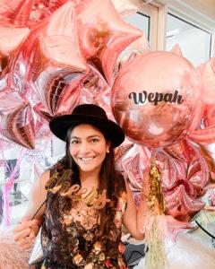 Woman Rosegold Balloons