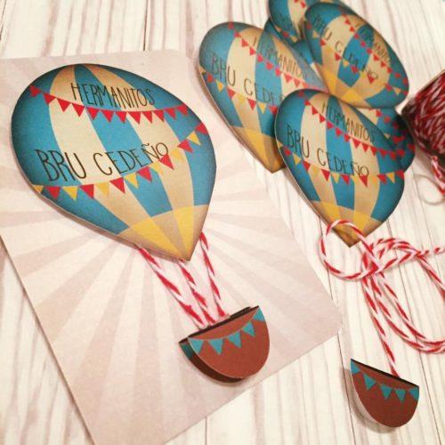 Hot Air Balloon Themed Party Invitation
