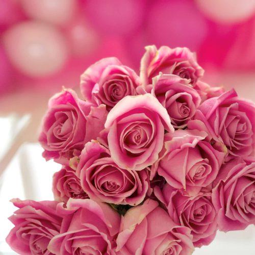 Medium Pink Roses Flower Arrangement