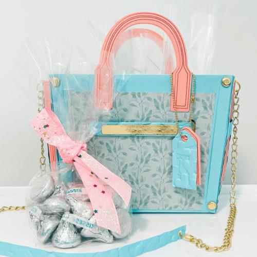 Pastel Colored Cardstock Handbag Personalizable